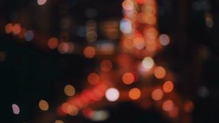 Orange and white defocused bokeh lights at night