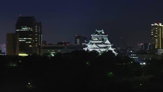 Osaka Castle Time-lapse at Night