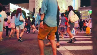People crossing the street in Shibuya
