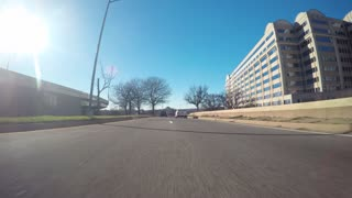 Point of view time-lapse driving shot the center of Washington DC