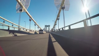 Point of view time-lapse ride over the Manhattan Bridge
