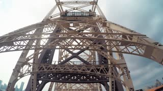 POV drive over the Queensboro Bridge, NY