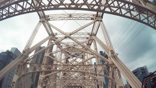 POV drive over the Queensboro Bridge, NY