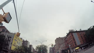 POV drive through Lower Manhattan, NY