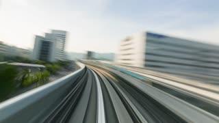 POV monorail hyperlapse ride through Kobe