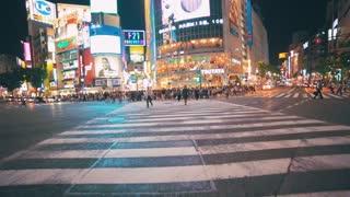 POV people crossing the street, Shibuya, Tokyo