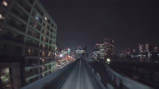 POV real-time ride through Tokyo via the Yurikamome