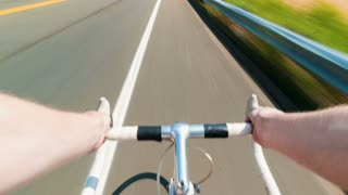 POV time-lapse of a person riding a bicycle