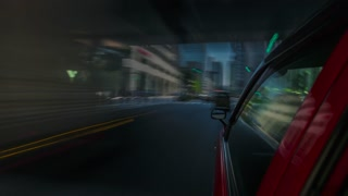 POV time-lapse taxi ride through Tokyo