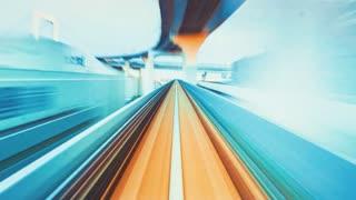 POV timelapse through Tokyo tunnels via monorail