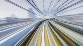 POV timelapse through Tokyo tunnels via the automated guideway transit