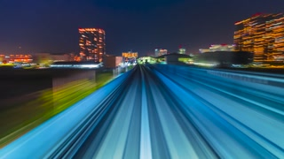 POV timelapse through Tokyo via the automated guideway transit, full ride.