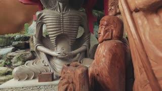 Starving Buddha Statue