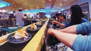 Sushi Conveyor Belt Timelapse