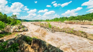 The Potomac River in time-lapse at Great Falls National park