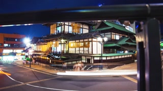 Time lapse an ancient Japanese bathhouse