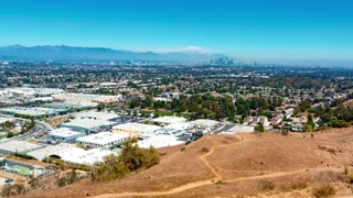 Time-lapse from Baldwin Hills with a view of Downtown LA