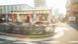Time lapse journey through Matsuyama, Japan via train.