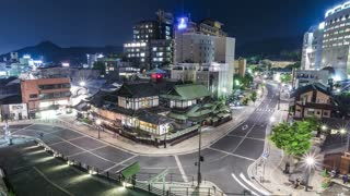 Time lapse of ancient japanese hot-spring bath house