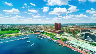 Time-lapse of Baltimore from the Inner Harbor