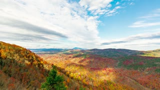Time-lapse of clouds over the Blue Ridge Mountains