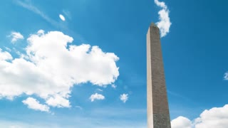 Time-lapse of clouds passing over the Washington Monument