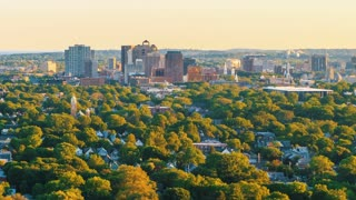 Time-lapse of downtown New Haven, CT from above