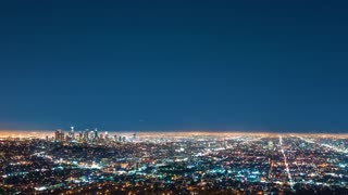 Time-lapse of LA from above at night