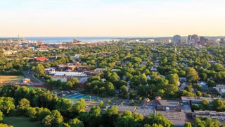Time-lapse of New Haven, CT from atop East Rock Park with a view of downtown