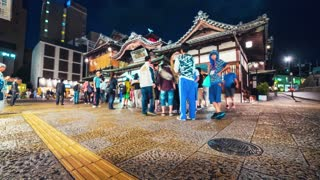 Time-lapse of people and traffic at Dogo Onsen, Matsuyama, Japan