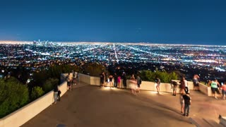 Time-lapse of people visiting the Griffith Observatory
