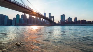 Time-lapse of the Brooklyn Bridge at Sunset