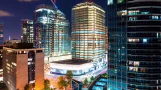 Time-lapse of the cityscape of Rosslyn, Virginia