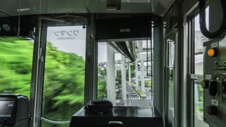 Time-lapse of the Hanging Monorail of Chiba, Japan