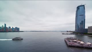 Time-lapse of the Hudson River from Jersey City