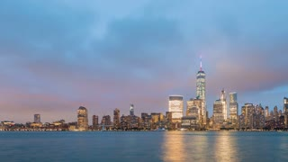 Time-lapse of the lower Manhattan skyline