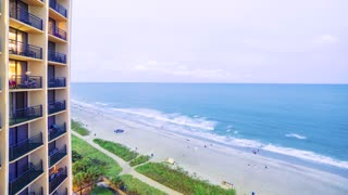 Time lapse of the Myrtle Beach, SC coastline at sunset
