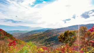 Time lapse over the Blue Ridge Mountains
