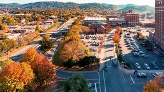 Timelapse of Asheville, North Carolina in the morning