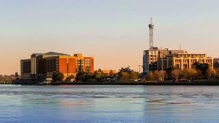 Timelapse of crane construction in Savannah, GA