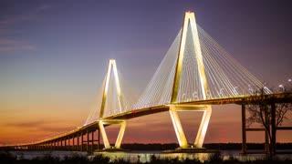 Timelapse of Ravenel Bridge in Charleston, SC (4K)