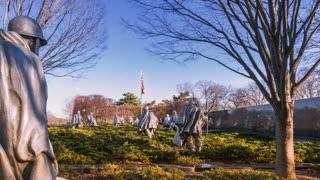 Timelapse of the Korean War Veterans Memorial (4K)