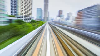 Timelapse through Tokyo via the automated guideway transit
