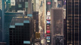 Times Square NYC Time-lapse at Sunrise