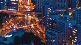 Tokyo cityscape time-lapse at night