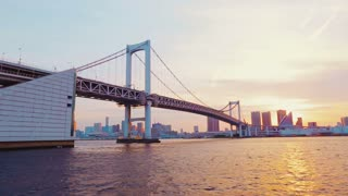 Tokyo's famous Rainbow Bridge taken from a boat