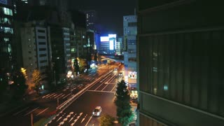 Traveling through Odaiba district at night via the