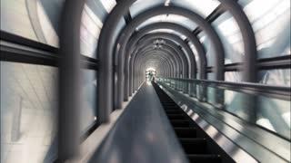 Up and Down the Osaka Sky Escalator