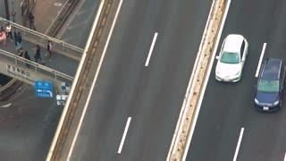 Aerial view of a highway in Shibuya, Tokyo, Japan