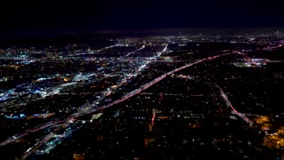 Aerial view of a Los Angeles, CA in 4K